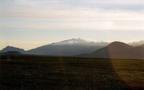 Snaefellsjökull v zapadajúcom Slnku